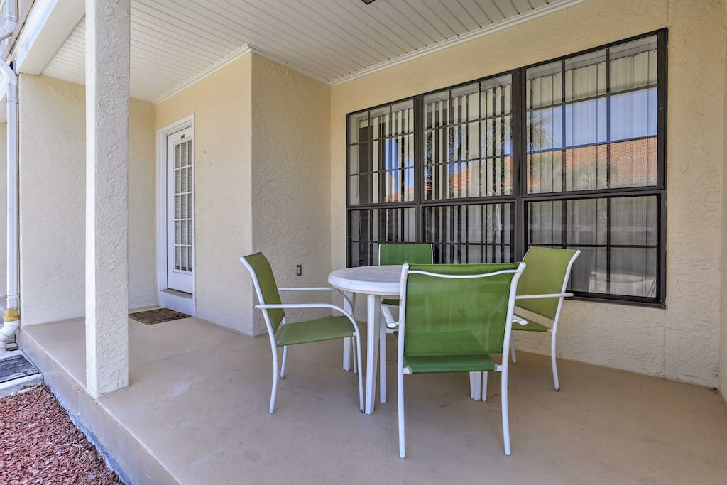 With beds for 6 and a private patio, this condo is perfect for families.