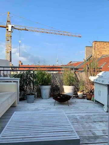 Roof top Terrace with a view over Prenzlauer Berg