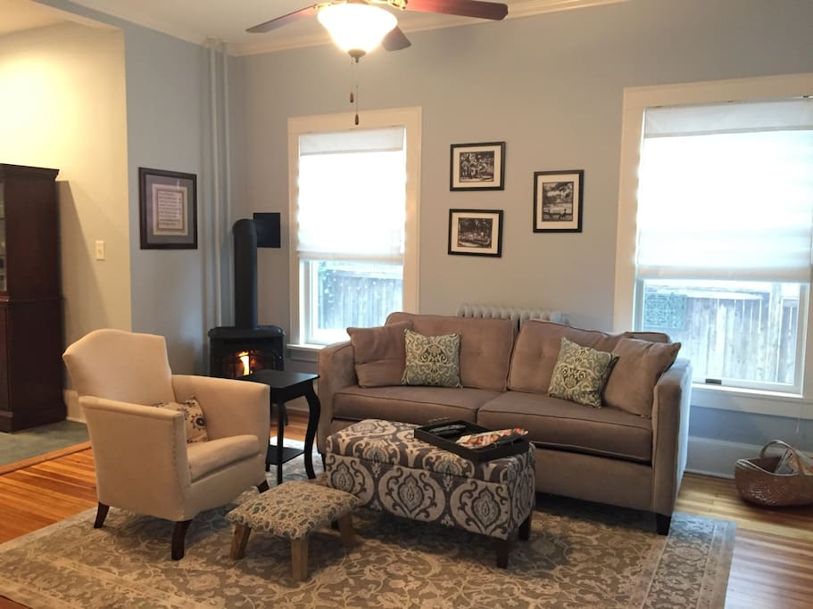 Open concept first floor with family room designed for relaxing