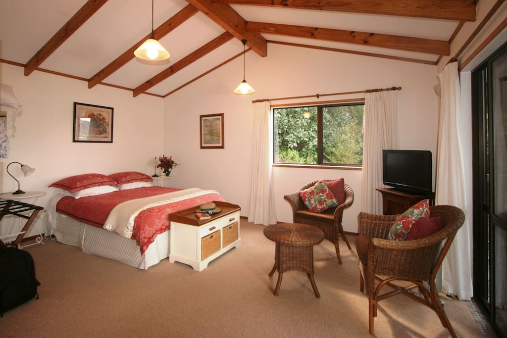 Warm roomy interior