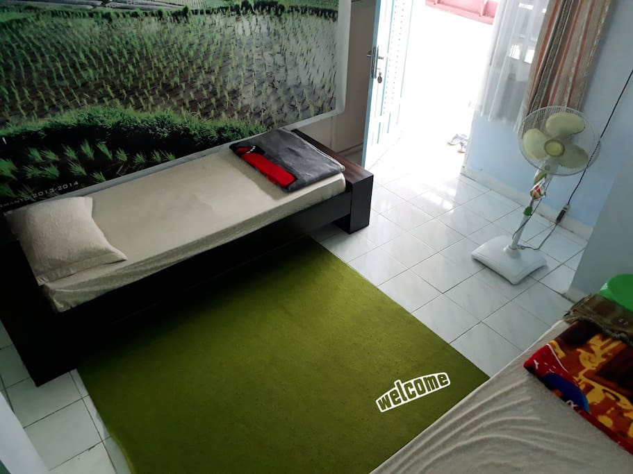 Merapi Room at upstair ( two singel bed )