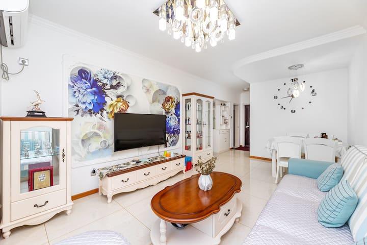 贝壳小屋 秦皇半岛豪装两居 时尚舒适 度假公寓 近燕大 近海边