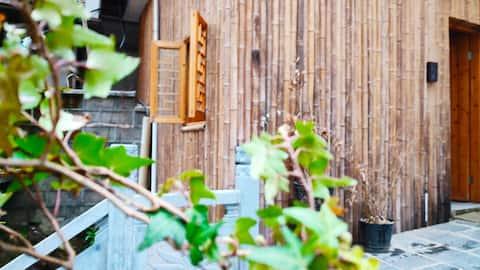 黄山南大门【听涛别院】徽派别墅双床房~茶室庭院~免费接送