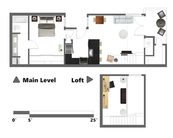 Main Level located on second level of unit