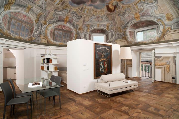 The Rubatti-Tornaforte dome: Apollo and its muses