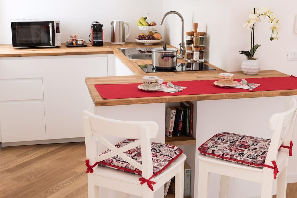 cucina della suite vista 2