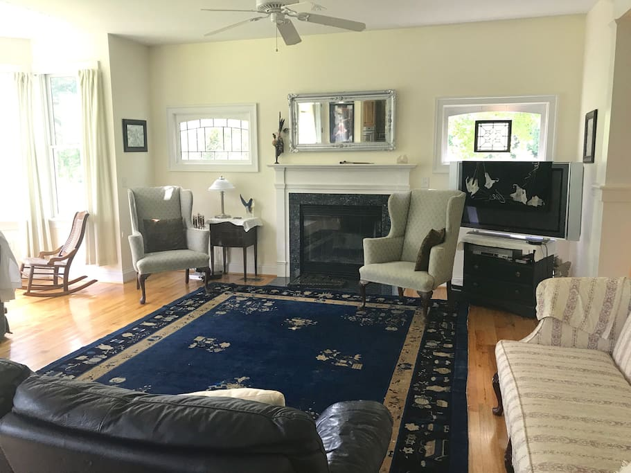 large living room for conversation and gathering