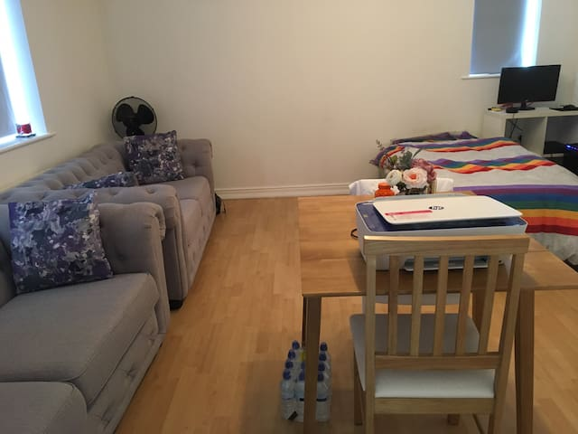 Apartment stay with free parking near South London