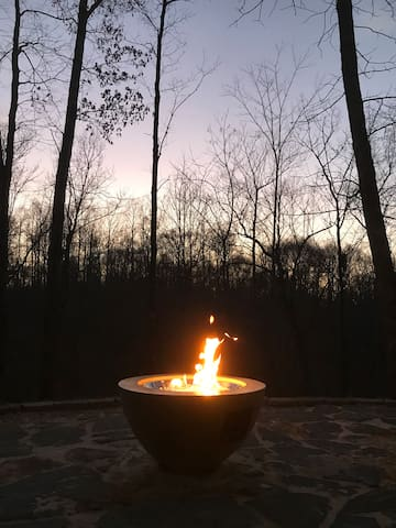 Lovely evening for a night around the fire pit!