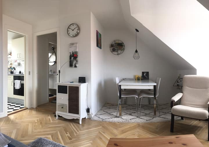 Cozy, beautifully lit attic with easy commuting