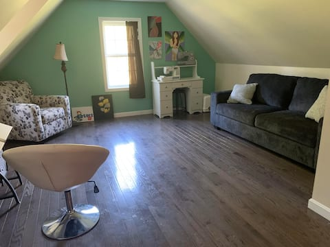 Sofabed in shared space Rindge Bed & Breakfast