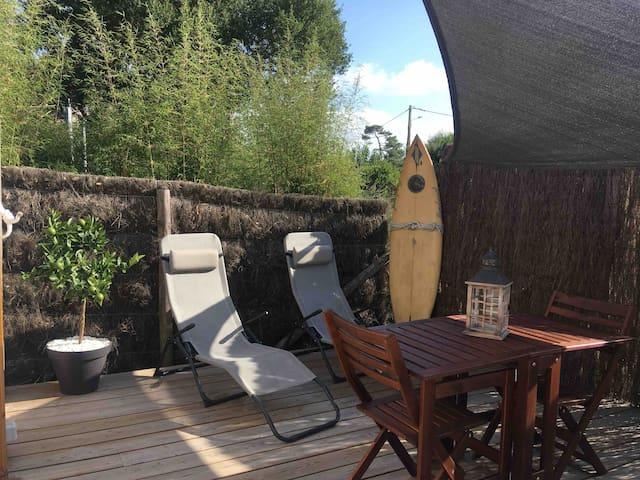 Lodge indépendant neuf à 100m de l'océan