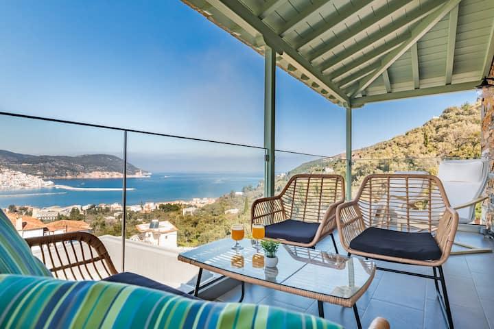 Villa Myli - Peaceful Getaway in Skopelos