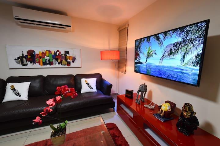 The Red Lion Apartment at Zona Dorada !