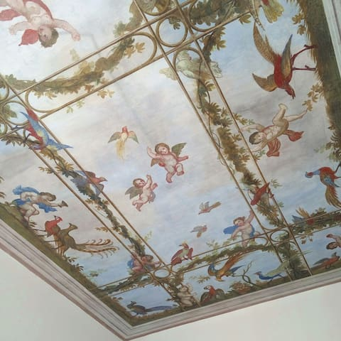 lovely room in artist flat with fresco ceiling. - Laveno Mombello  - Leilighet