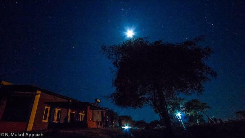 Triple occupancy room @ an erstwhile hunting lodge - Masinagudi - Bed & Breakfast