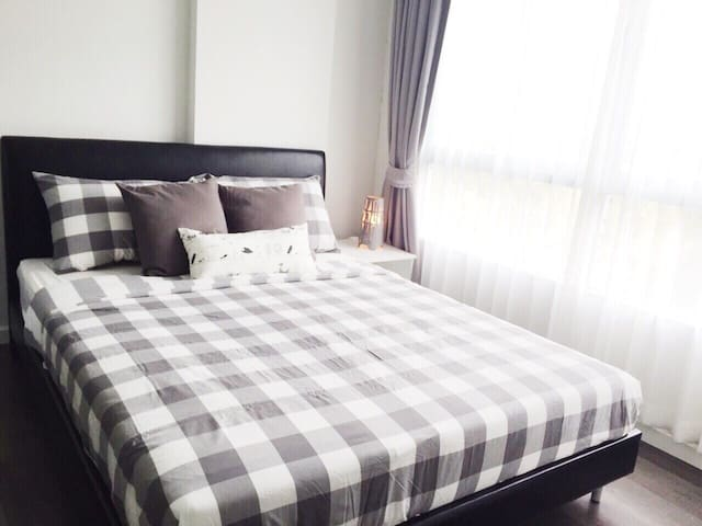1 Cozy  bedroom -Rayong city centre - Mueang rayong  - Apartament