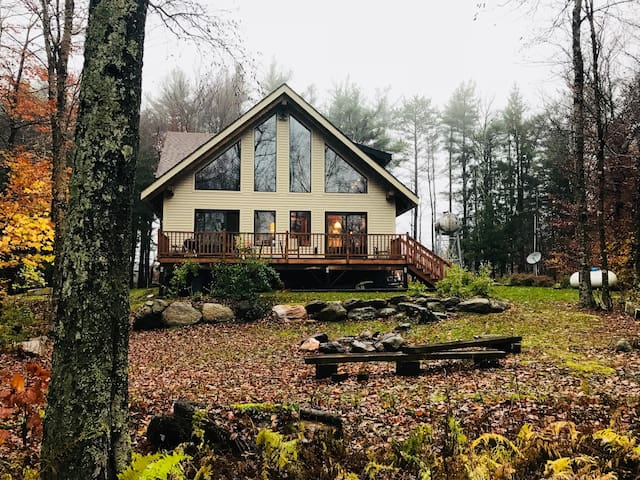 Swiss Chalet Style Timberframe Home in Berkshires