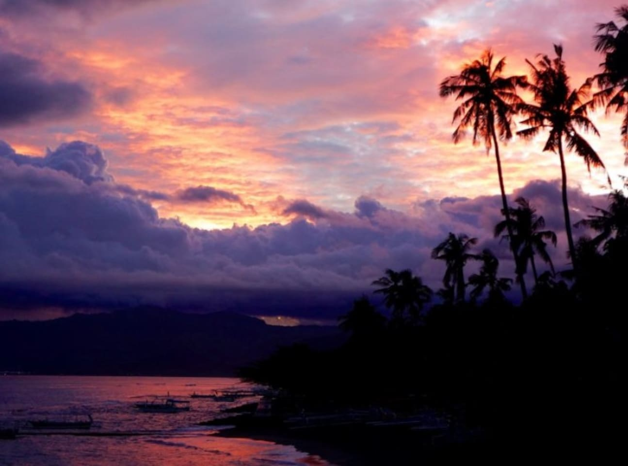 Dramatic Sunset to end a special day in magical East Bali