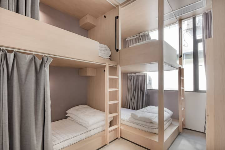 【近未来】美术馆里的旅舍|精酿酒馆&城市天台|近太古里|6人间一个女生床位