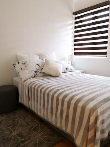 1st bedroom with double bed for 2pax accommodation
