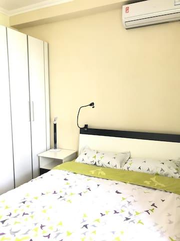 鸟巢水立方附近,大屯路的静谧舒适单间大床房。