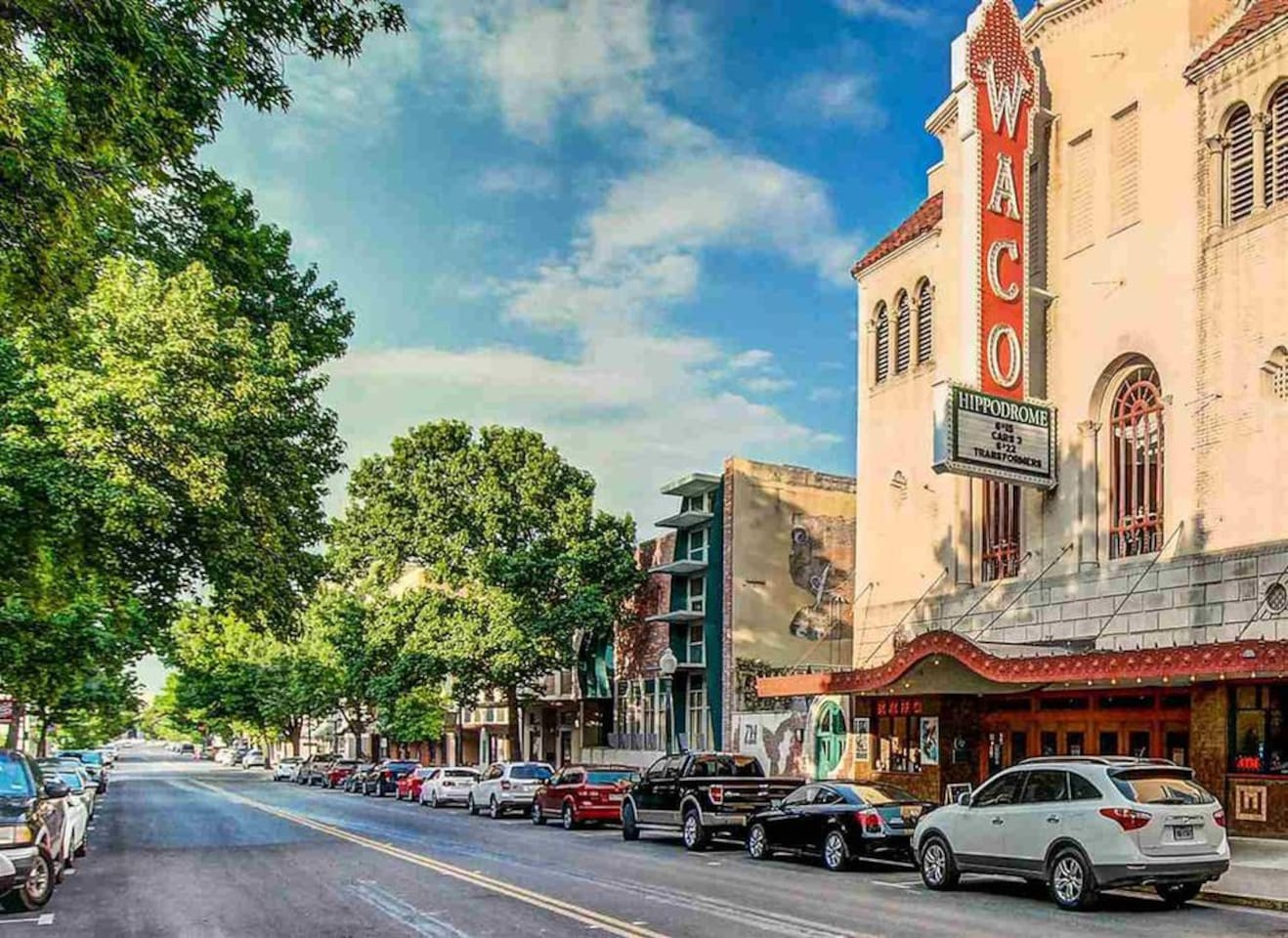 Condo is on the right directly across from the Waco Hippodrome!