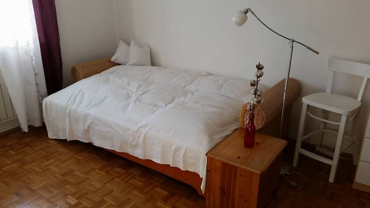 Nice guestroom close by the centre