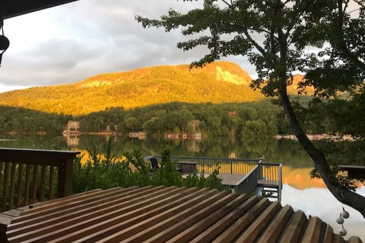 Walk to Rumbling Bald From Your Lakefront Home!