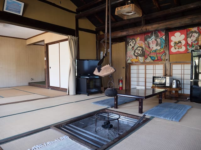 A Japanese traditional private house with Onsen