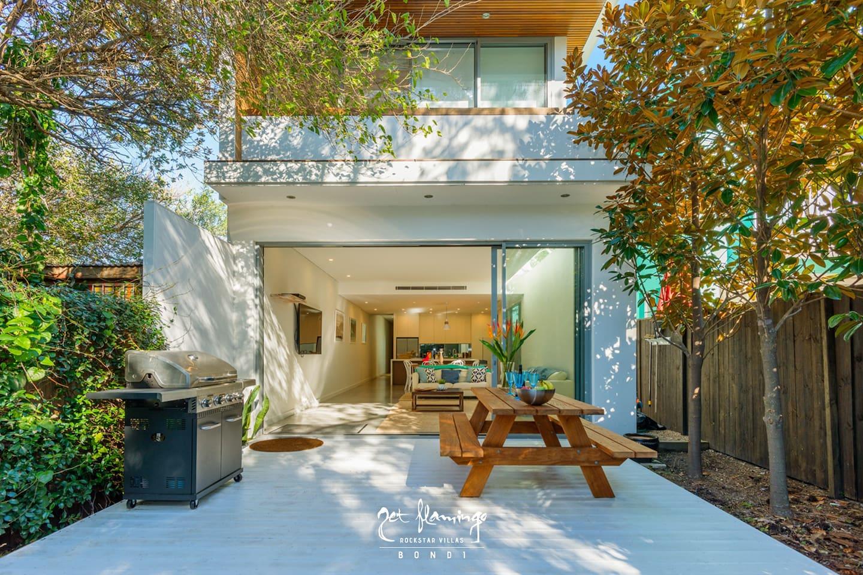 The open & spacious backyard & entertaining area