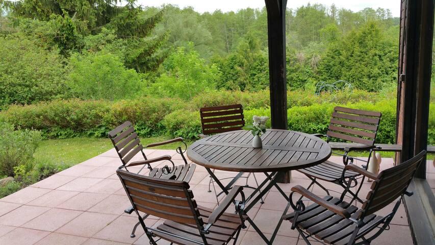 Ferienhaus im Grünen - Natur pur
