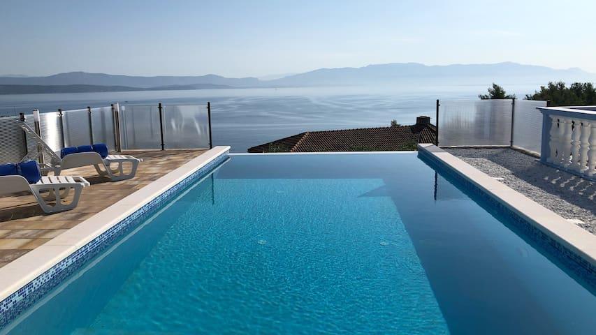 Million $ view luxury Villa Solta