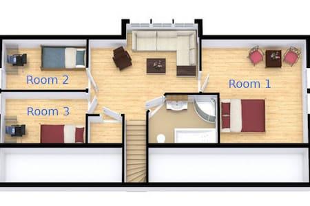 Sunny side of Kongsberg - room #3 second floor