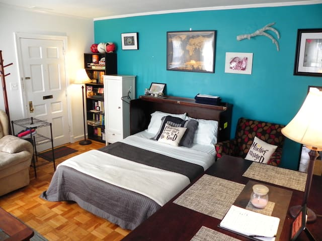 Get comfy in this warm, homey Kitty Condo near DC