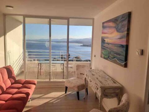 Lindo departamento con vista al mar