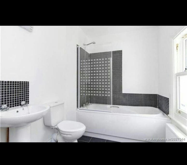 Modern clean bathroom with hot water on demand