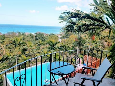 Odlehlé Palm Villa🌴 ~ Idylický Ocean View Suite