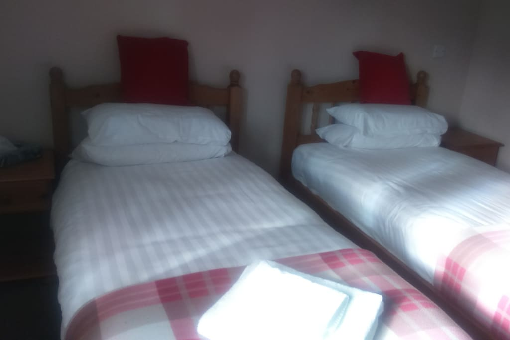 One of our twin bedded rooms