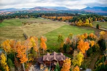 HemLocke Lodge Autumn Aerial