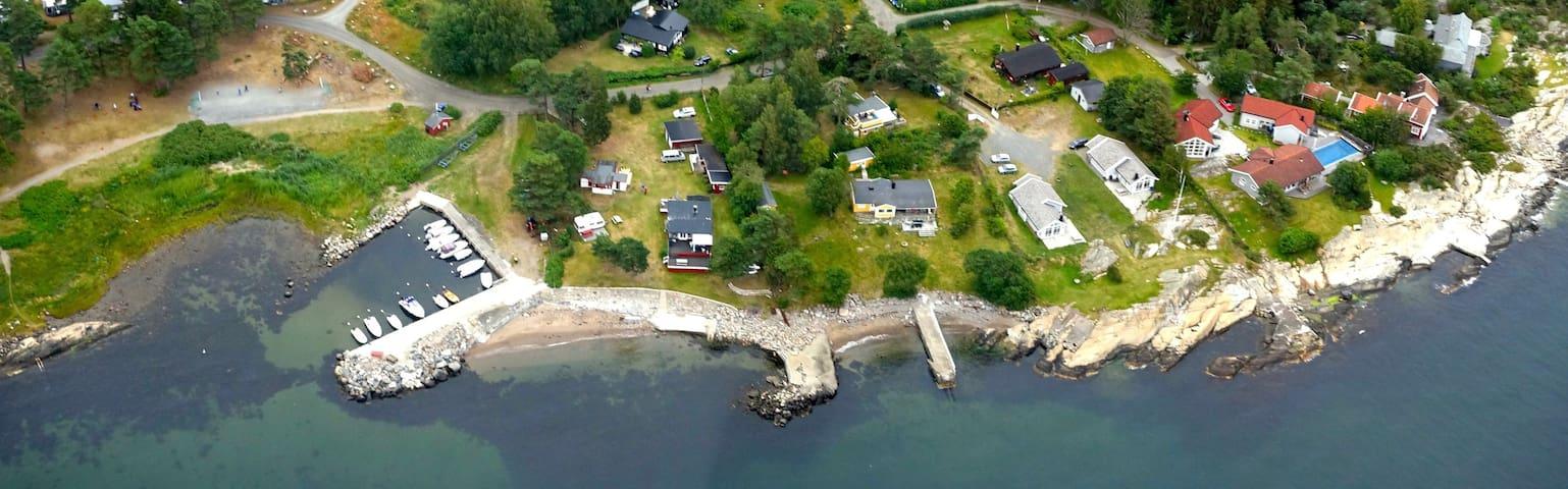 Gjestehus med sjøutsikt i Larkollen