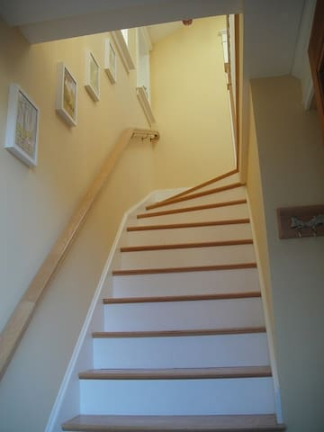 The short (12 step) winder staircase to the studio.
