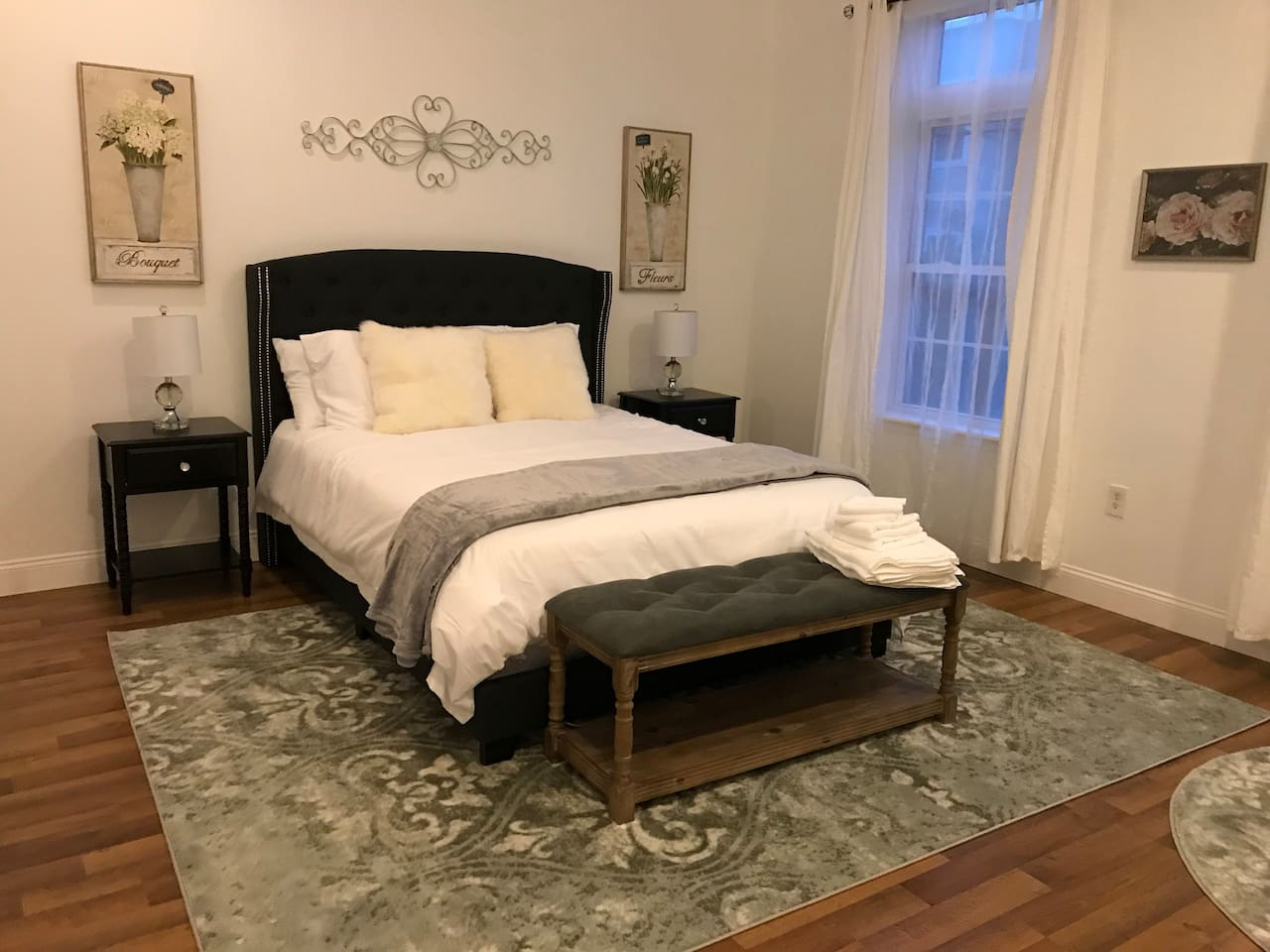Private room with a queen bed.