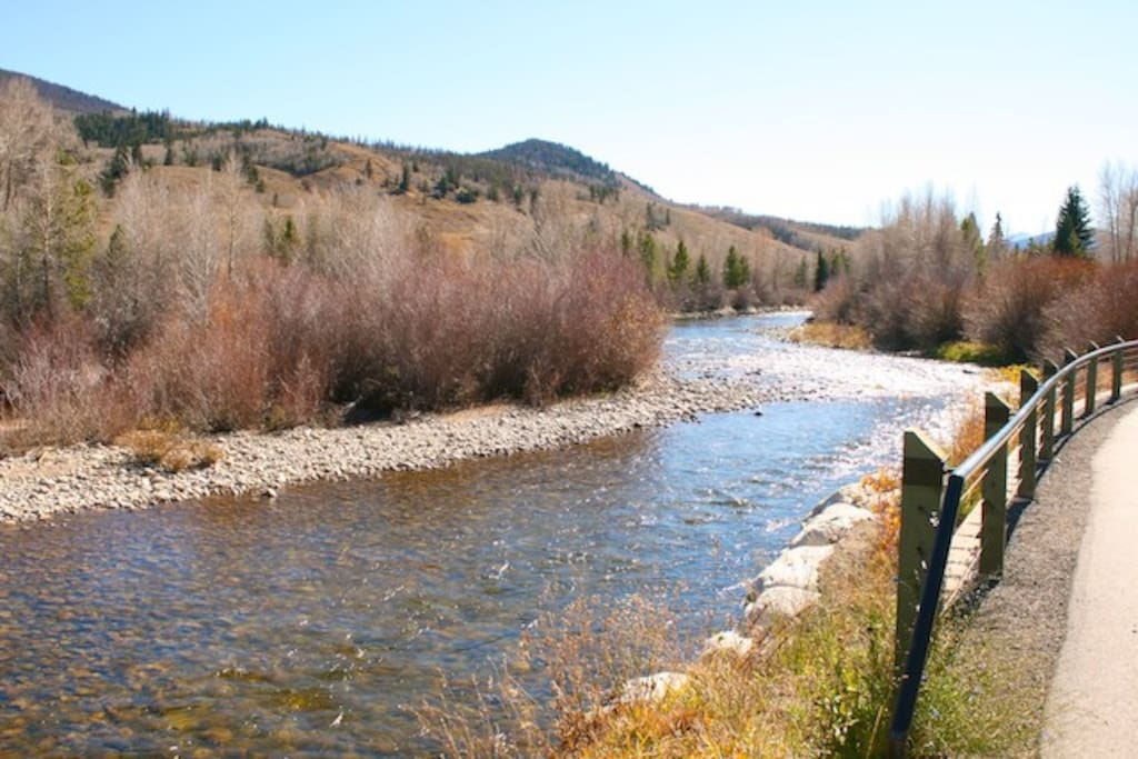 View of Blue River from rear of Trout House