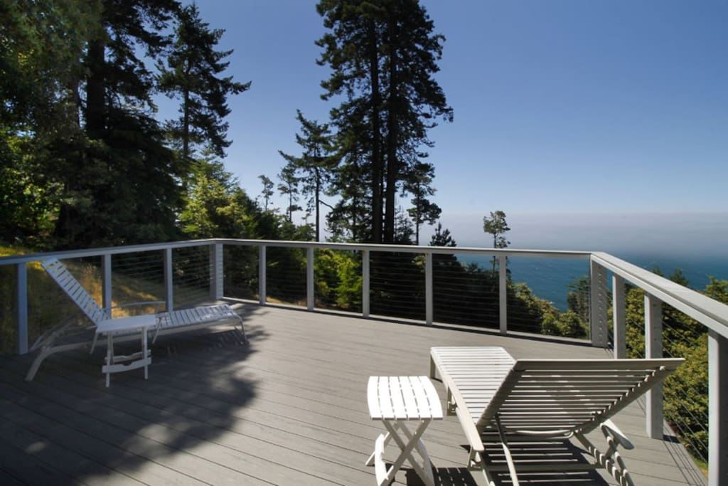 Clarks Cove Seating on Deck to Ocean View