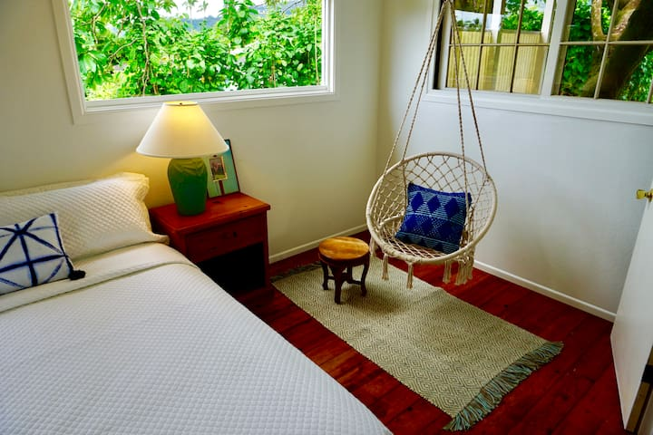 Upstairs master bedroom, Cal King with swinging chair