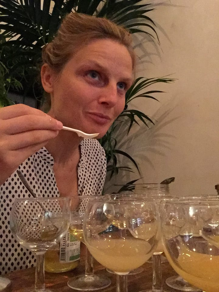Me tasting Honey