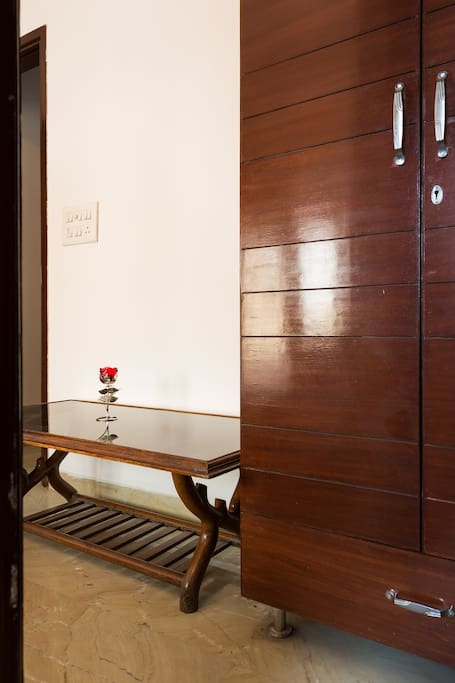 Closets in the master bedroom