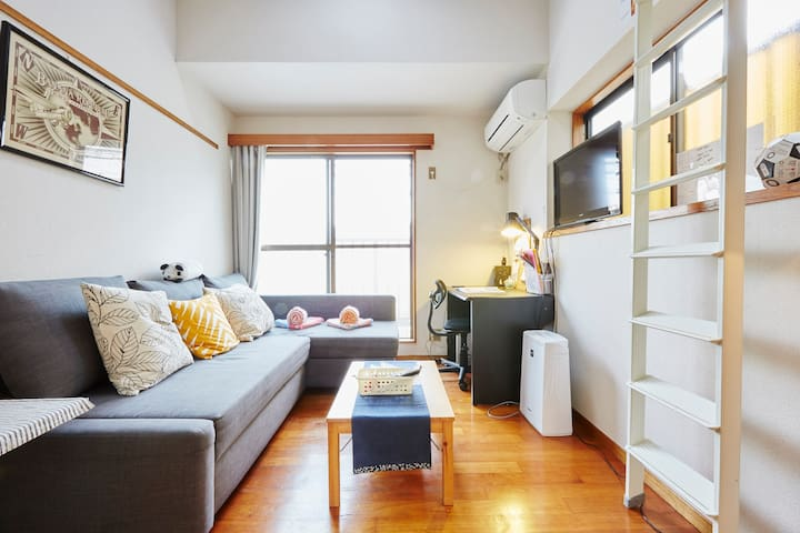 BRIGHT LOFT in Fantastic Location!! - Setagaya - Daire