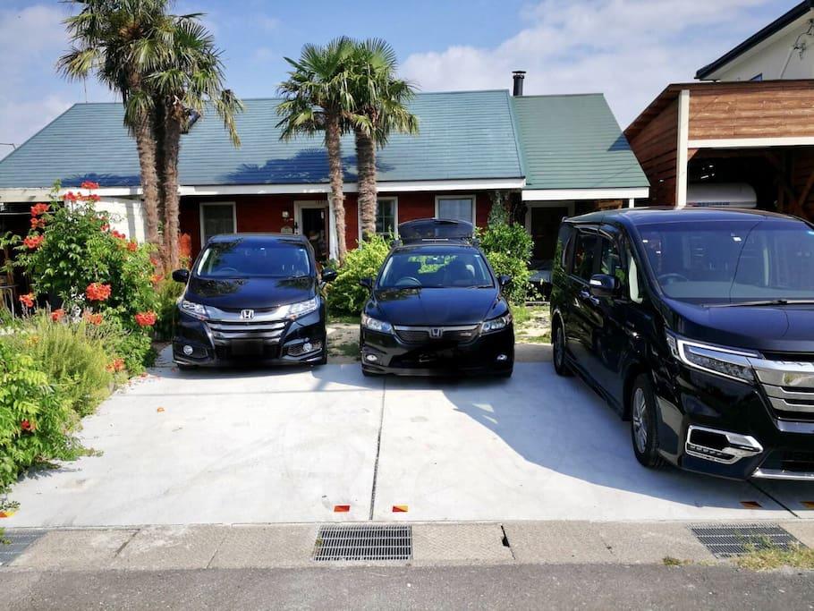車は3台から4台は駐車できます。